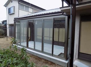 奈良市 K様邸 サンルーム工事