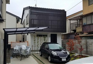 京都市左京区 K様邸 サイクルポート設置工事