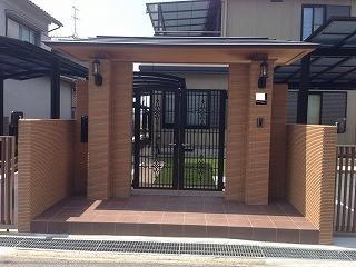 奈良市 K邸 リフォーム外構工事 駐車場拡張 迎門