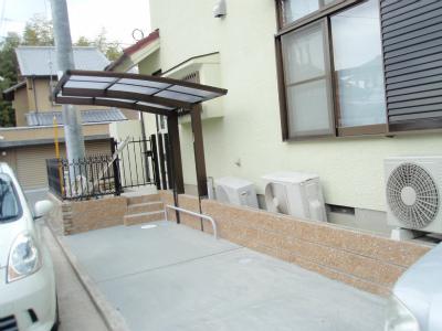 奈良市 Y邸 駐車場拡張工事 サイクルポート