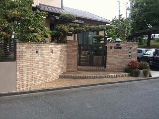 生駒市 Y邸 リフォーム外構工事 門まわりタイル貼り