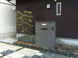 生駒市 T邸 新築外構工事 和モダン 立水栓